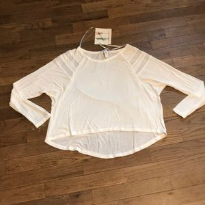 Sheer White High Low Top
